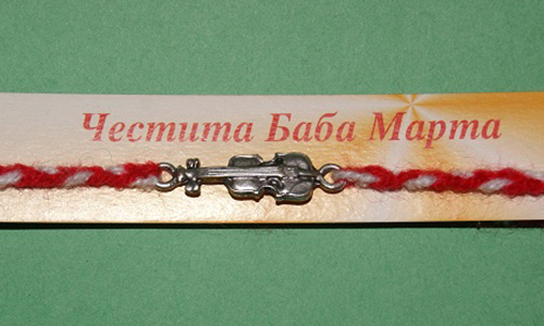 martenitsa bracelet with violin