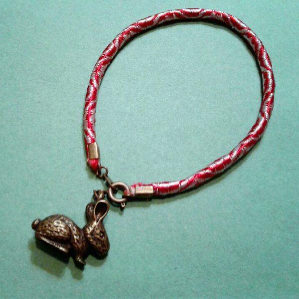 martenitsa bracelet with bunny