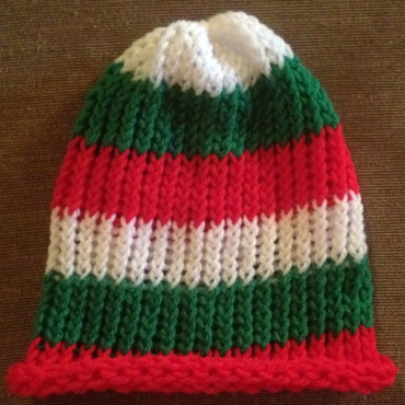 Bulgarian-Tricolor Knit Hats
