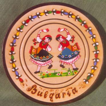 Bulgarian wooden plate