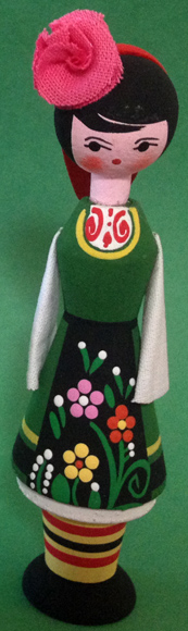 Penda Wooden Doll with Rose Oil Vial