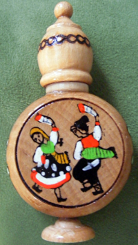 Rose Oil Vial, Dancing Peasants