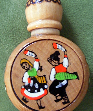 Rose Oil Vial, Dancing Peasants