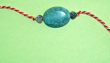 Martenitsa Bracelet Blue Stone