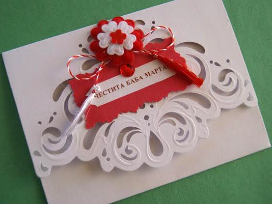 Baba marta card with martenitsa bulgarian martenitsi rose oil happy baba marta card m4hsunfo