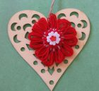 wall decor: heart with martenitsa