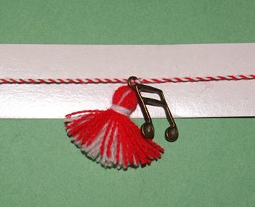 martenitsa bracelet with music notes