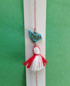 martenitsa bracelet with bird charm