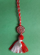 martenitsa necklace circle of life red