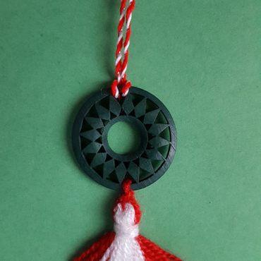 martenitsa necklace with sun circle