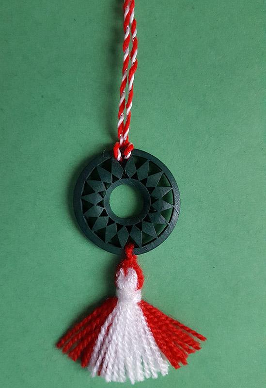 martenitsa necklace with sun circle