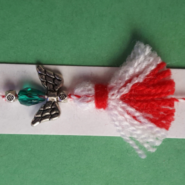 martenitsa bracelet with angel