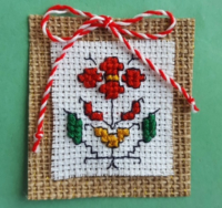 embroidered martenitsa