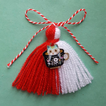 martenitsa with cat charm