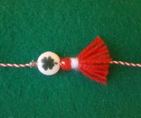 martenitsa bracelet with clover charm